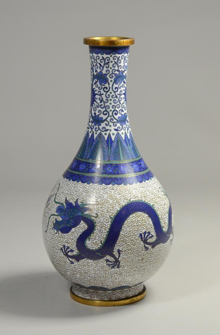 "Chinese Cloissonne dragon vase, 8 1/2""h - 3"