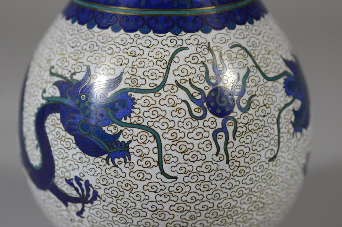 "Chinese Cloissonne dragon vase, 8 1/2""h - 6"