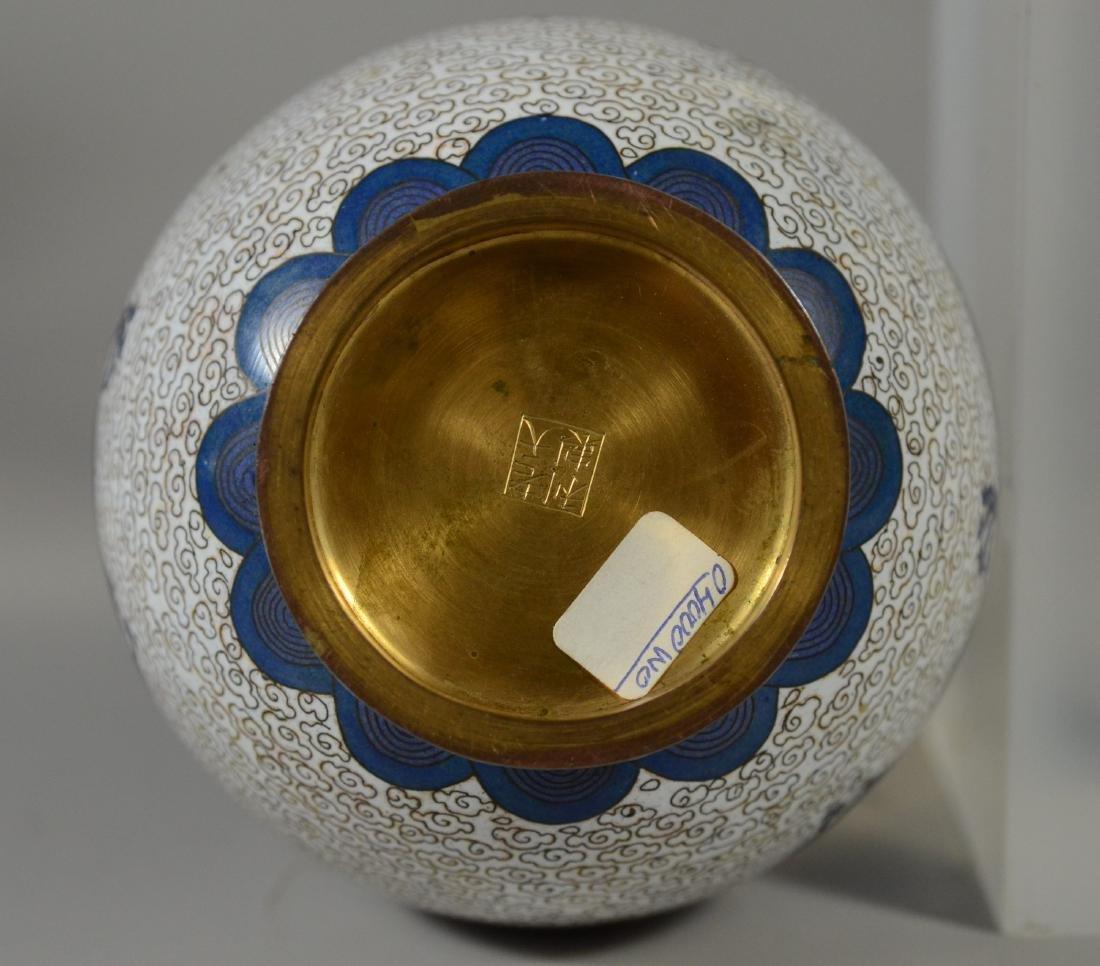 "Chinese Cloissonne dragon vase, 8 1/2""h - 9"