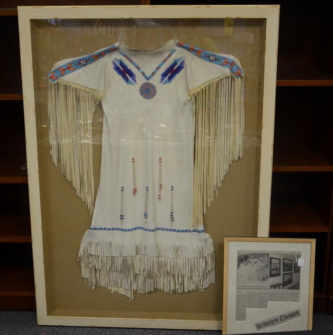 Vintage Native American beaded ceremonial fringed dress