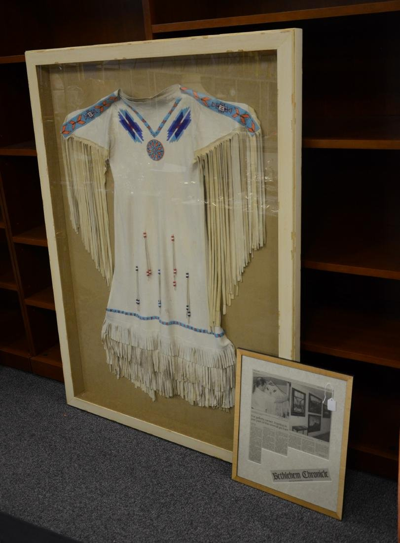 Vintage Native American beaded ceremonial fringed dress - 2