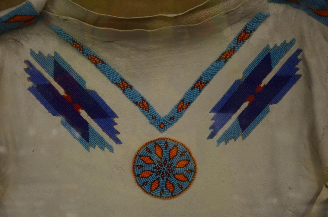 Vintage Native American beaded ceremonial fringed dress - 3