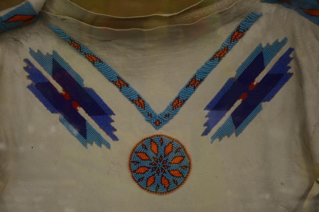 Vintage Native American beaded ceremonial fringed dress - 3