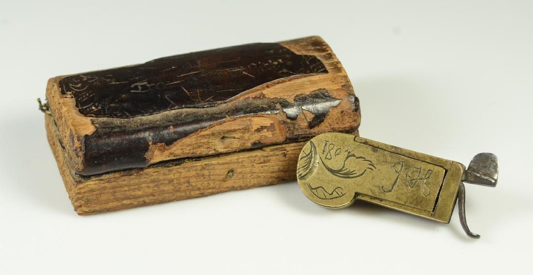 19th C Civil War era brass field surgeon's bleeder