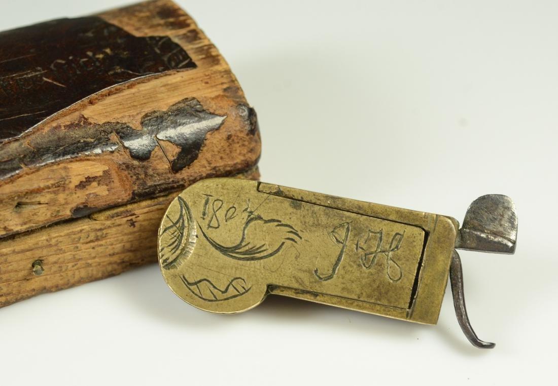 19th C Civil War era brass field surgeon's bleeder - 2