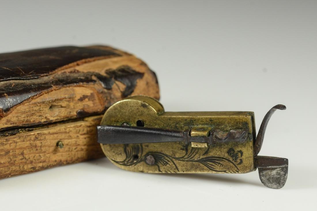 19th C Civil War era brass field surgeon's bleeder - 3