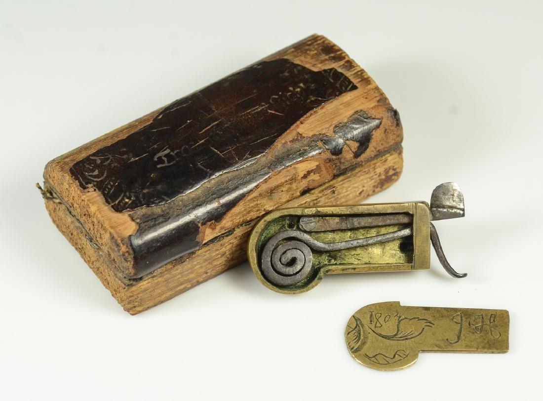 19th C Civil War era brass field surgeon's bleeder - 4