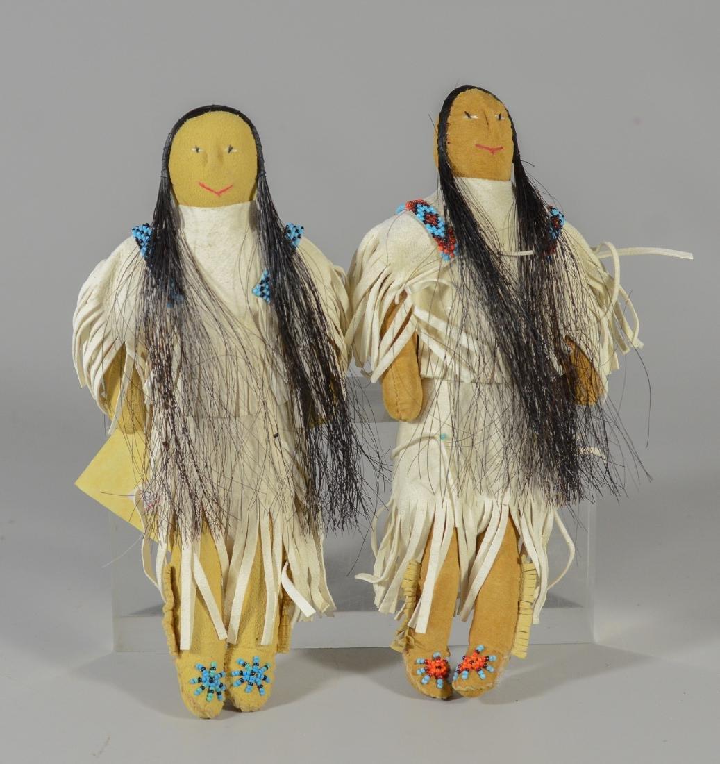 (2) Native American Sioux Dolls Loretta Bettelyoun