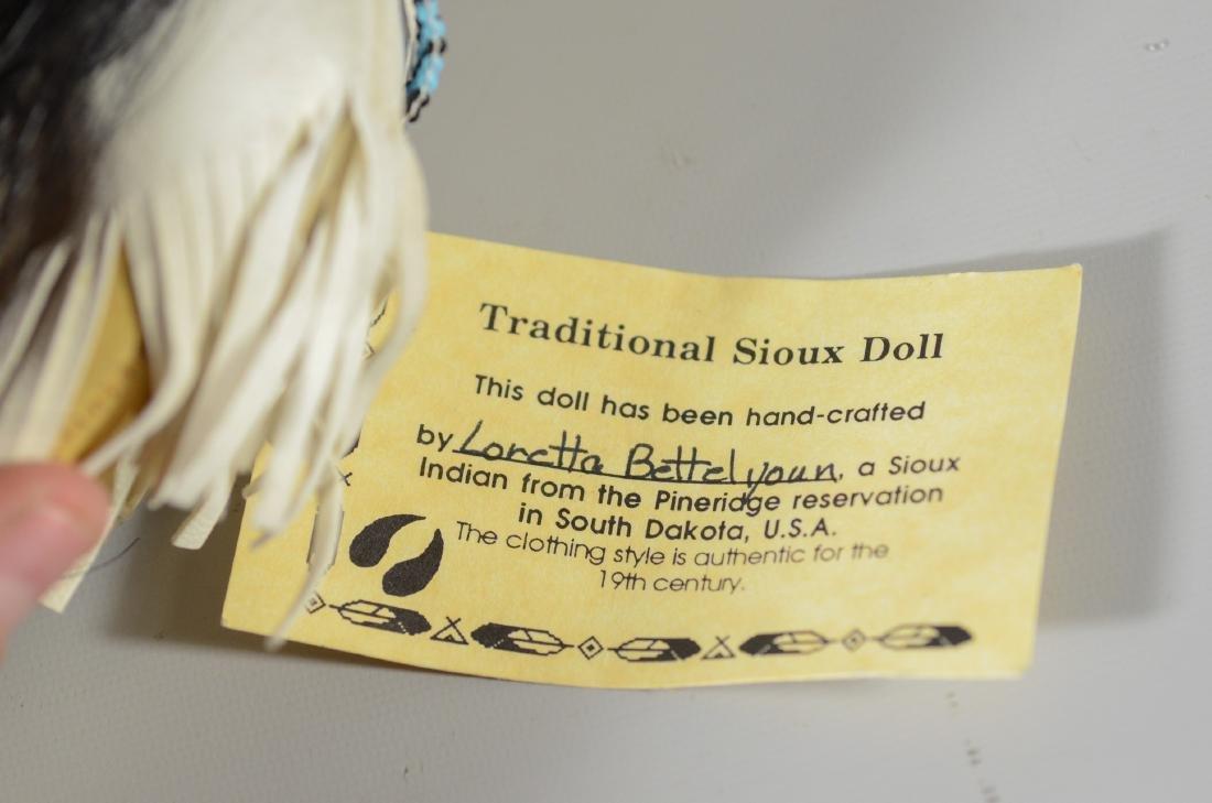 (2) Native American Sioux Dolls Loretta Bettelyoun - 2