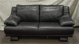 Modern Design black leather sofa