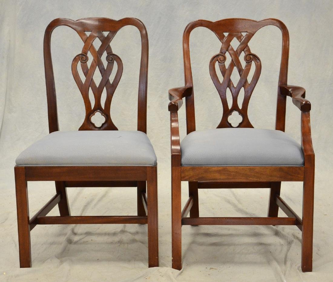 (10) Baker Chippendale style dining chairs
