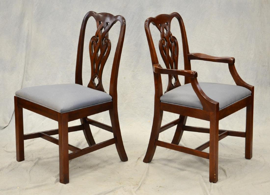 (10) Baker Chippendale style dining chairs - 2