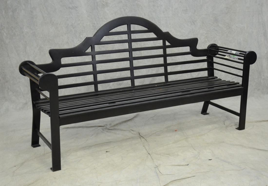 Smith & Hawken metal lutyens bench