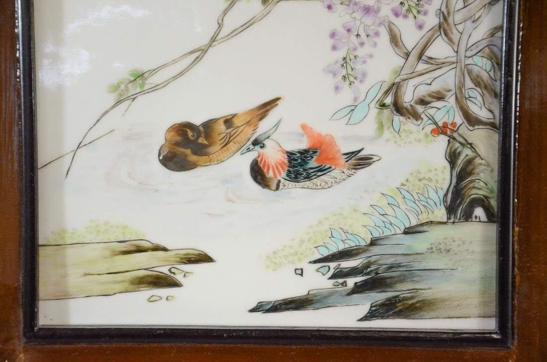 Chinese porcelain plaque, painted with pr Mandarin d - 2