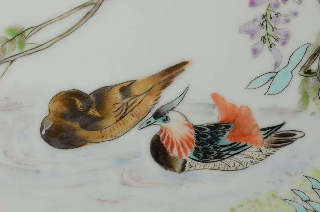 Chinese porcelain plaque, painted with pr Mandarin d - 6
