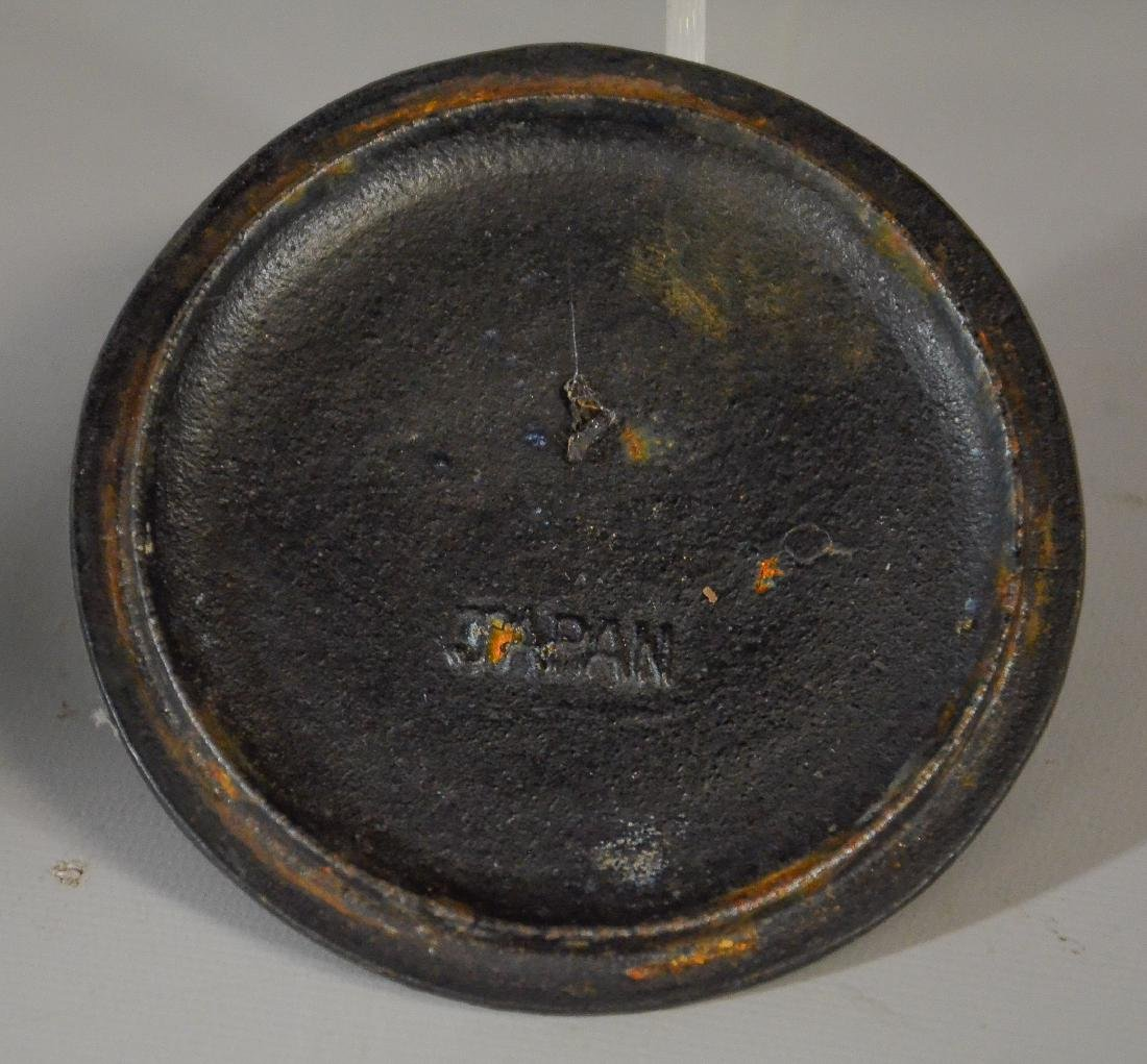 2 Japanese iron tea kettles, Tetsubin, 1 missing lid - 3