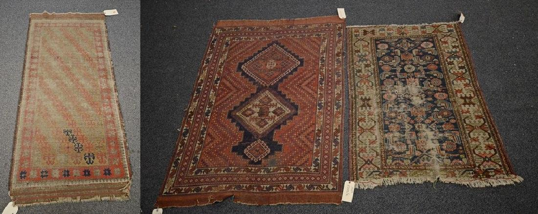 Lot of 3 tribal rugs Afshar,NW Persian,and Baluch