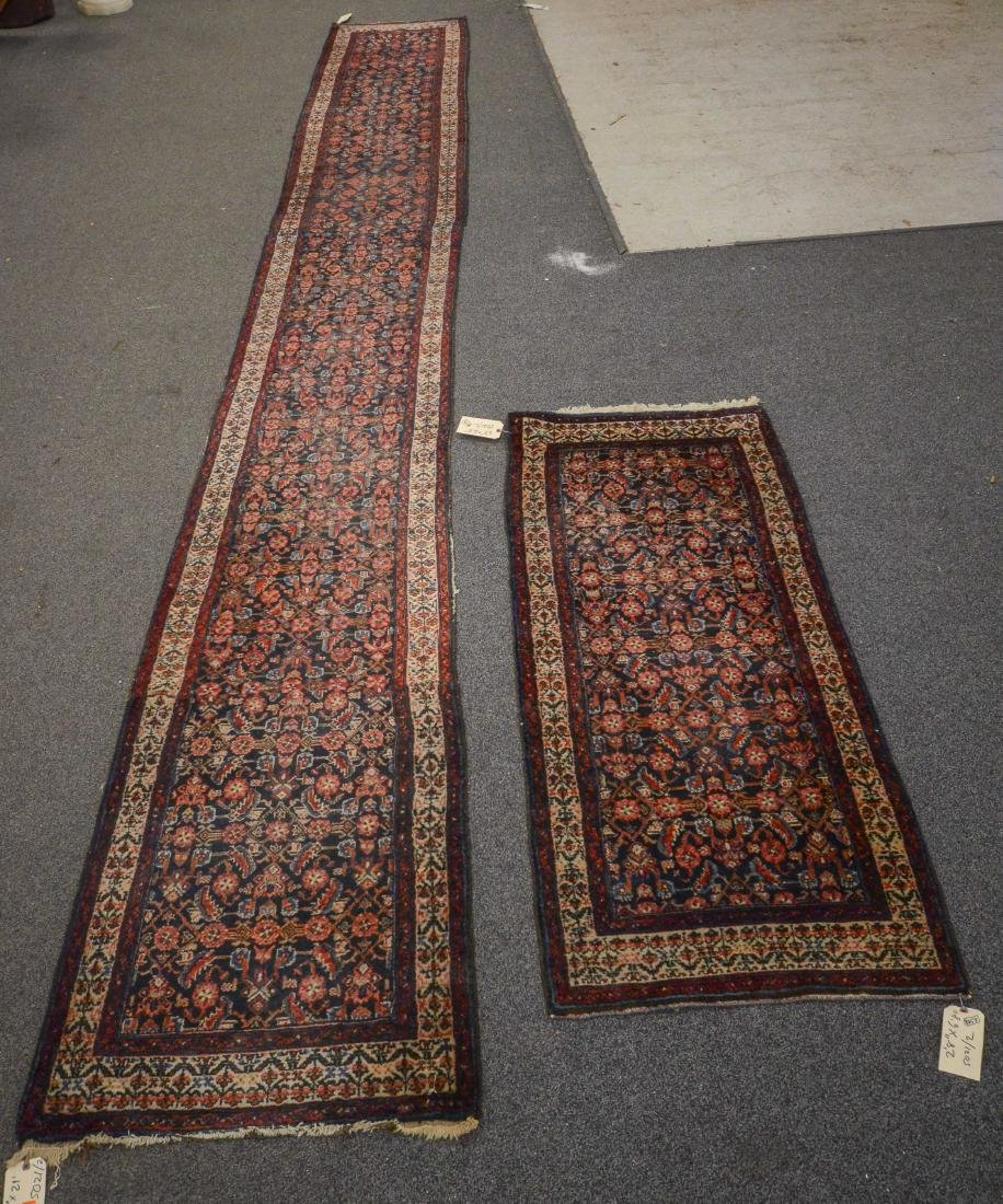 "Pair of Persian Hamadan runner rugs  2'8""x6'8"" and"