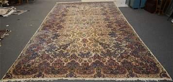 """11'1""""x21'6 Persian Kerman carpet"""