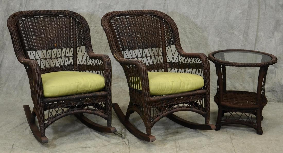 (5) Pc wicker porch set - 3