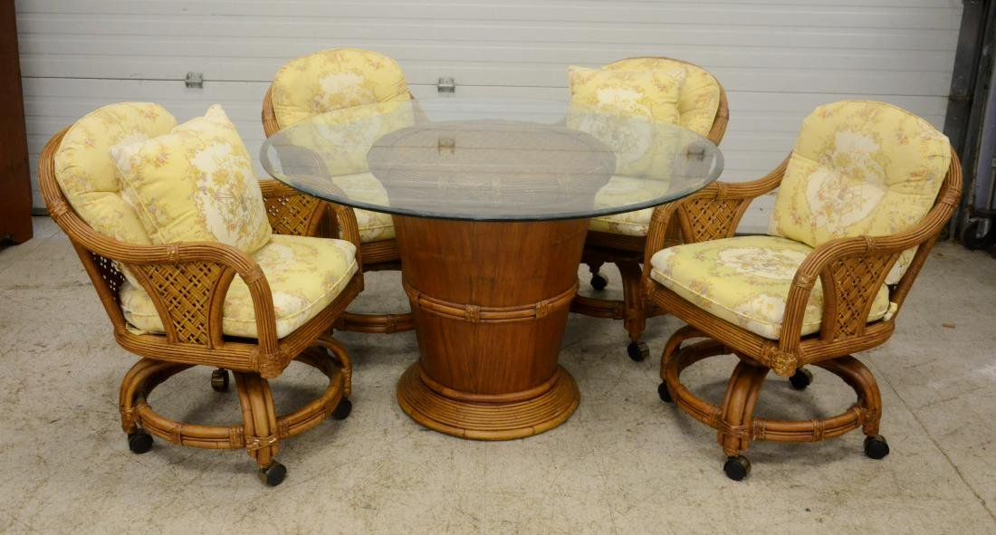 (5) Tradewinds Rattan Dining Set