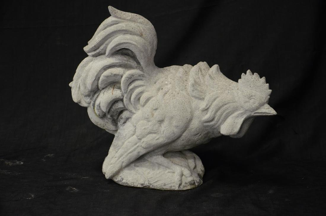 (4) Cast stone animal figures - 2