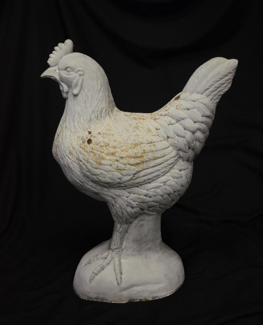 Cast iron rooster outdoor ornament - 2