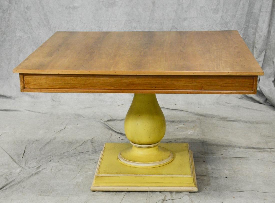 Pr square cherry single pedestal DR tables