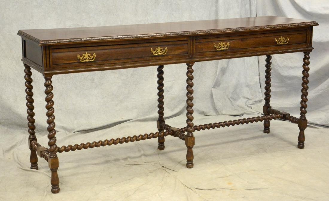 Walnut Jacobean style high leg sideboard