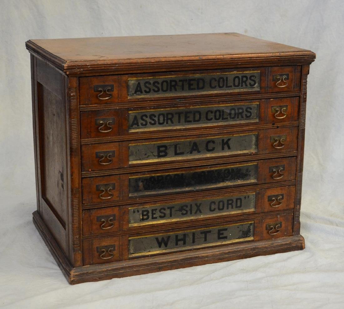 Spool Cotton store display cabinet
