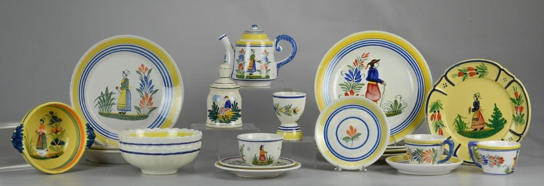21 Pcs Henriot Quimper France porcelain