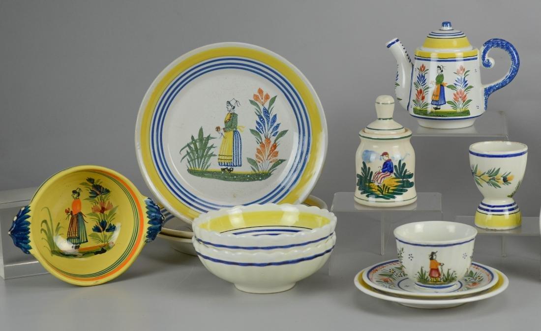 21 Pcs Henriot Quimper France porcelain - 2