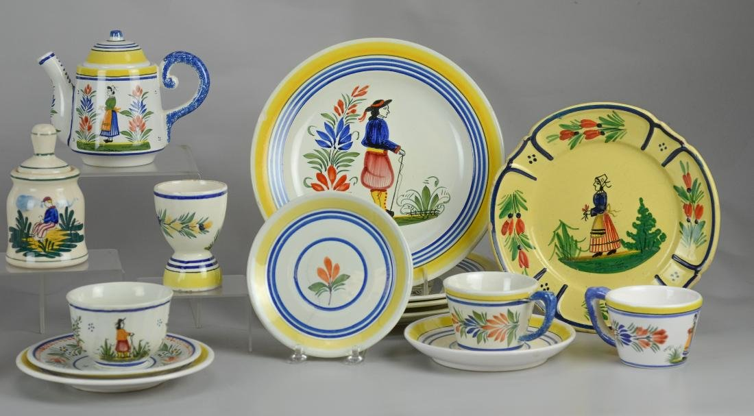 21 Pcs Henriot Quimper France porcelain - 3