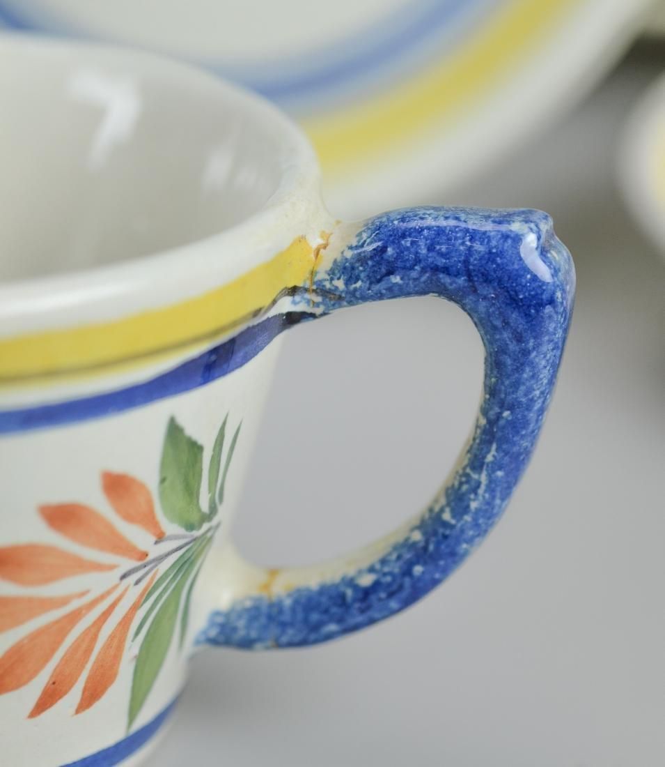 21 Pcs Henriot Quimper France porcelain - 4