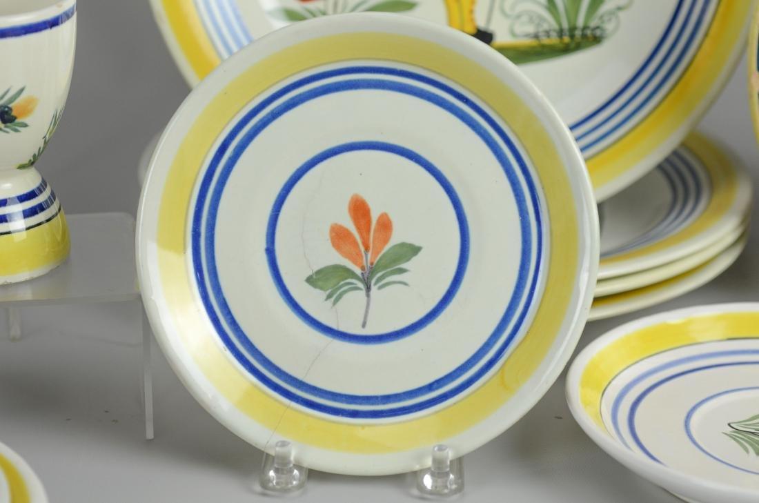 21 Pcs Henriot Quimper France porcelain - 5