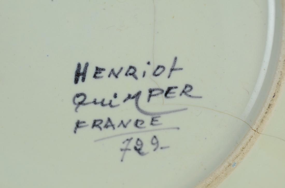 21 Pcs Henriot Quimper France porcelain - 6