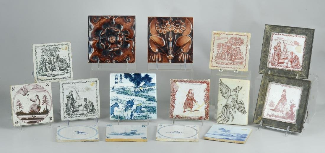 15 Pottery tiles