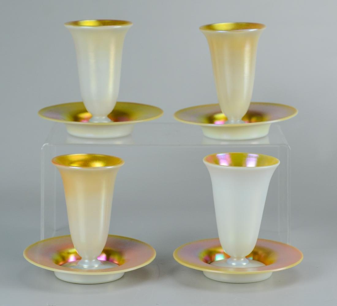 (11) Pcs Steuben calcite and gold aurene glass - 2