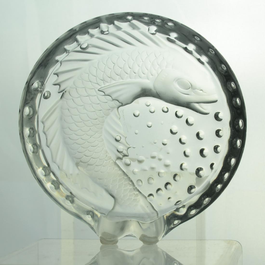 Lalique France Concarneau koi fish cigar ashtray - 3