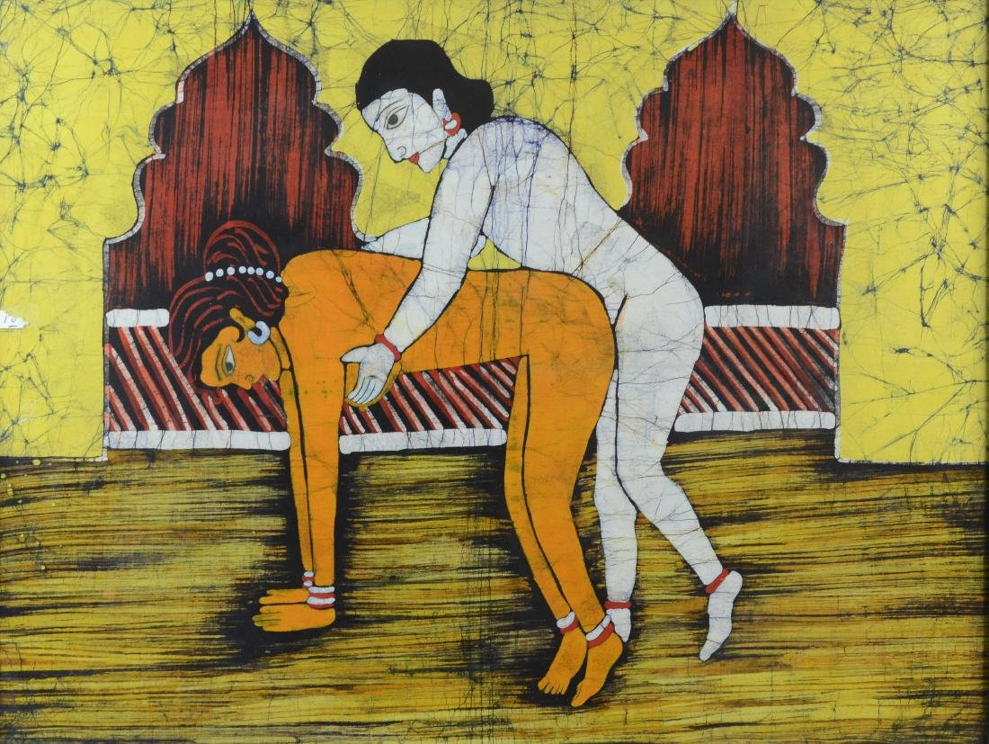Eastern Erotic Batik Painting