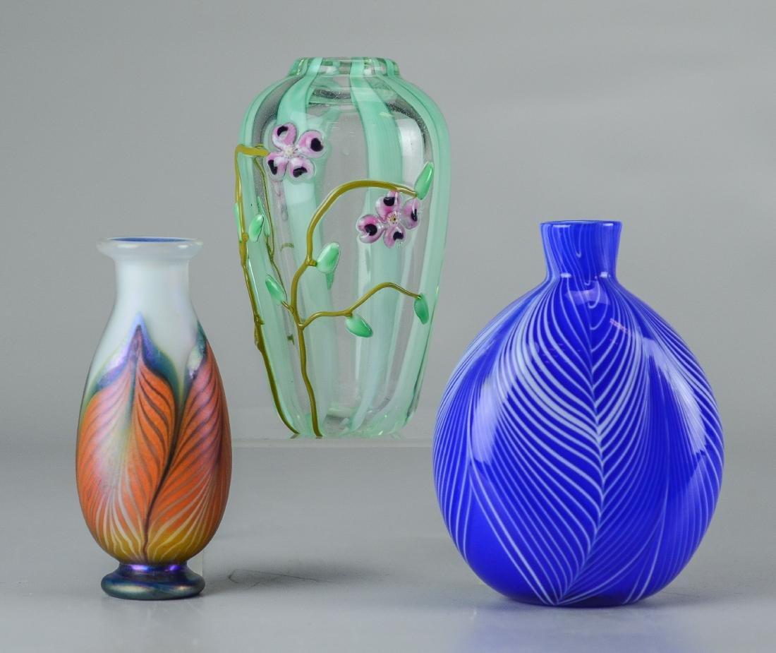 3 Pcs of contemporary art glass