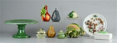 10 Pcs Fruit  Vegetable form porcelain  pottery