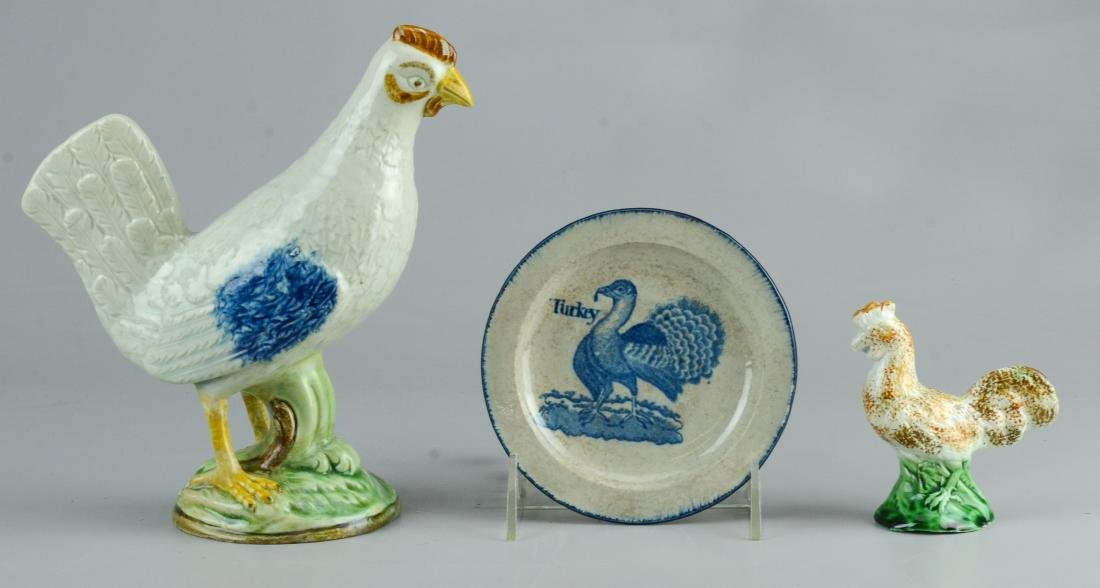3 Pcs English Pottery