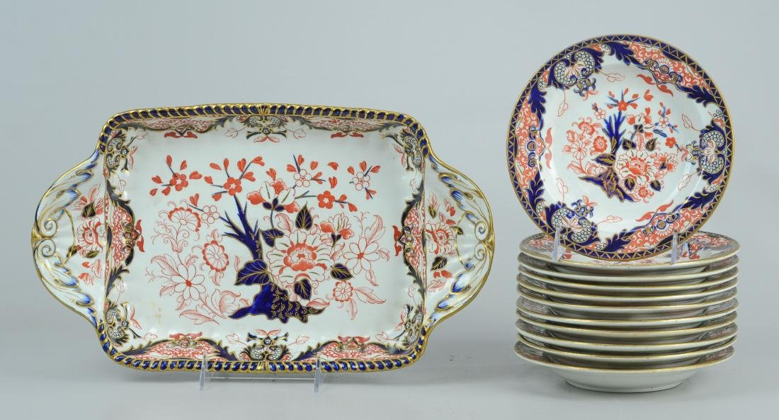 Royal Crown Derby Imari Ice Cream Set