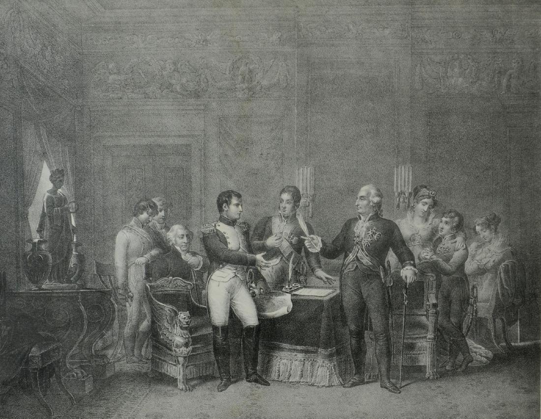 "Charles Motte lithograph ""Traite de Bayonne"""