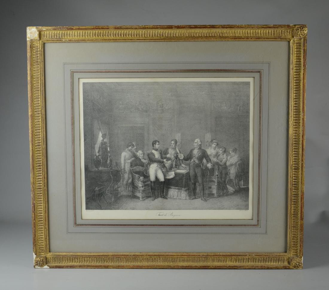 "Charles Motte lithograph ""Traite de Bayonne"" - 2"