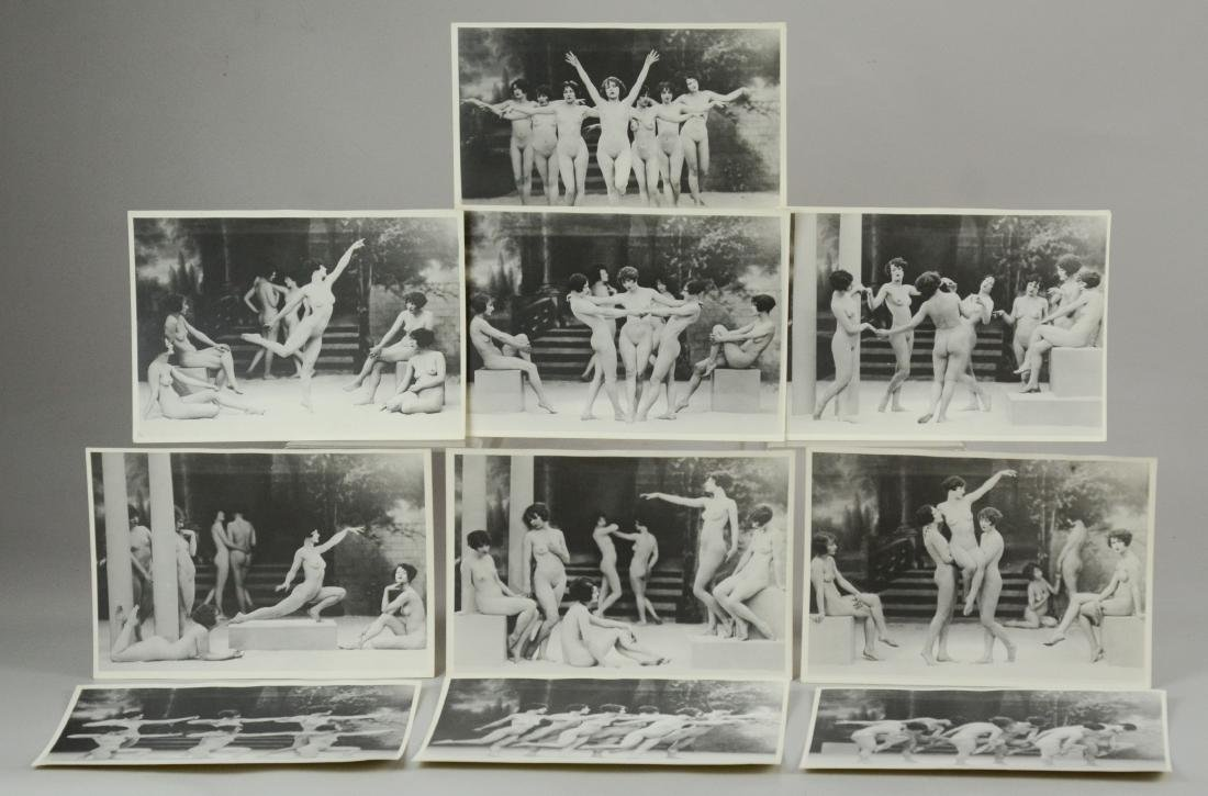 10 photo prints, female nude stage dancers