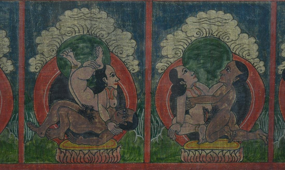 Antique Erotic Kama Sutra Painting - 4