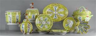 63 Pcs Herend Yellow Dynasty Siang Jaune Dinnerware