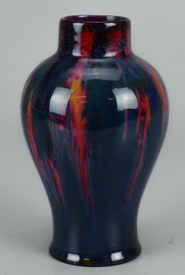 Royal Doulton flambe pottery vase